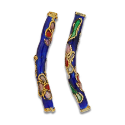 Cloisonne Tube Beads 26 mm