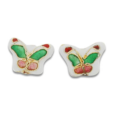 Cloisonne Butterfly Beads 12x15 mm