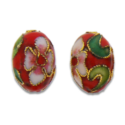 Cloisonne Egg Beads 10x14 mm