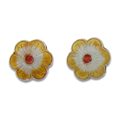 Cloisonne Flower Beads 12 mm - Click Image to Close