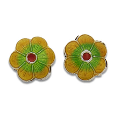 Cloisonne Flower Beads 12 mm