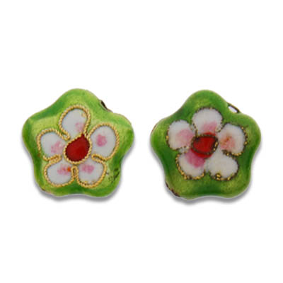 Cloisonne Flower Beads 15 mm