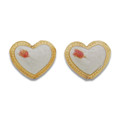 Cloisonne Heart Beads 18 mm