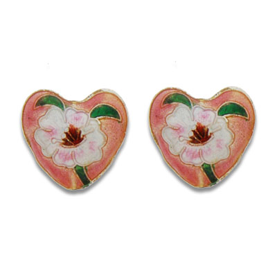 Cloisonne Heart Beads 20 mm