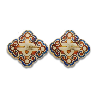 Cloisonne Pyramid Beads 20 mm