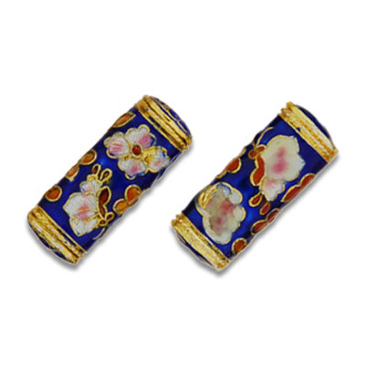 Cloisonne Rectangle Beads 12x28 mm