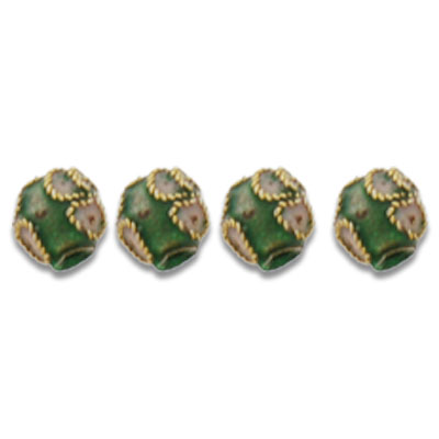Cloisonne Round Beads 6 mm