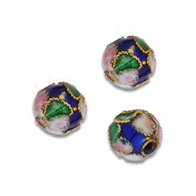 Cloisonne Round Beads 8 mm