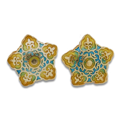 Cloisonne Star Beads 20 mm