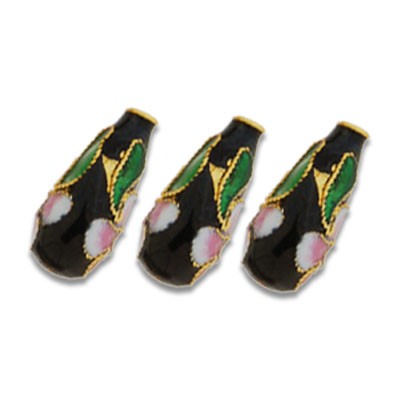 Cloisonne TearDrop Beads 8x18 mm