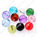 14mm faceted round transparent acrylic beads,disco ball beads,mixed color