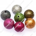 20mm,round plastic shimmering beads,round wrinkle beads,mixed color