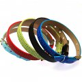 8mm DIY P.leather bracelet,fits for 8mm slide charms,Assorted color