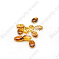 Amber color Oval Beads 5x8mm