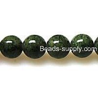 Bead ,Dyed Fossil beads ,round 12mm , olivine