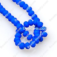 Bead,satin beads,3x4mm spacer beads, neon blue facted roundelle beads