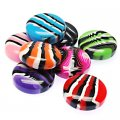 Beads,stripes damasks resin coin beads ,11x25mm,assorted color