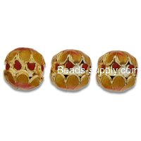 Cloisonne Double Flower Beads 12 mm