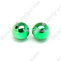 Colorful Plated Round Beads 10mm