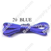 Cord, Bugtail, satin, blue, 2mm.