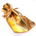 Gifts bag , 9x12cms golden gifts bag