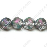 Glass Beads Faced Transparent Beads 14mm