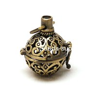 Pendants,Antique Bronze,openable pendant 18*27mm,sold of 20 pieces