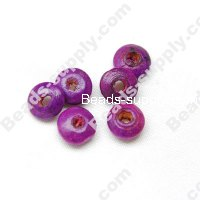 Wood Disc Bead 4x8mm