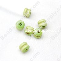 Wood Double Disc Bead 5x6mm