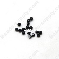 black agate(natural), 3mm Round beads