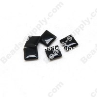 black agate(natural),8X8mm Puffed Square beads