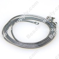 1mm Snake Chain Necklace , 43 cms