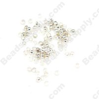 2.5mm Crimp Beads ,Silver