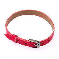8mm DIY P.leather bracelet,fits for 8mm slide charms,fuchsia