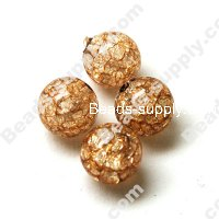 Acrylic Crackled beads ,Round Beads 10mm ,Coffee