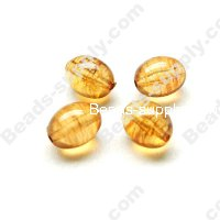 Amber color Olive Beads 11x14mm