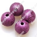 Bead,acrylic shimmering beads,purple,wrinkle Round Beads 10mm