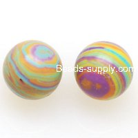 Beads,10mm Malachite Round Beads,rainbow color ,sold of 10 strands