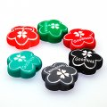 Beads,10x24mm satin good luck flower beads,mixed color rubberized beads,sold of 100 pcs per pkg