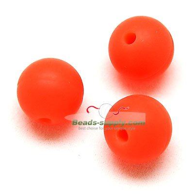 Beads,Silicon Beads,12mm Round Beads,Orange - Click Image to Close