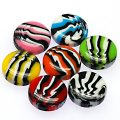 Beads,stripes damasks resin coin beads ,8x18mm flat round,assorted color