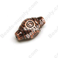 Brushing Antique Copper Acrylic Beads,33*20mm