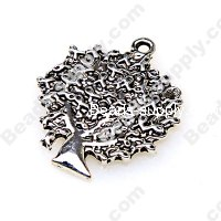 "Charm,antiqued""pewter"" (zinc-based alloy), 25x29mm tree . Sold per pkg of 200"