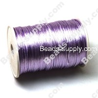 Cord, Bugtail, satin, Lt.Purple, 2mm.