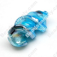 Foiled glass Twist Beads