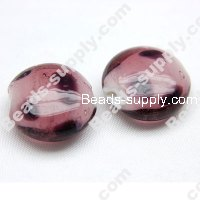Lampwork Coin Beads 20mm