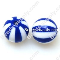 Printing beads 16mm Blue