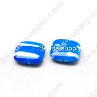 Spray-Paint Square Beads 5x17mm