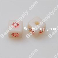 Star Aniseed Beads, Square Beads,10*10mm