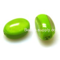 Stripe Resin Beads,18*18*28mm Oval Beads ,Olivine